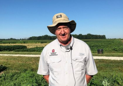 Mark Loux OSU Soybean Researcher Field Leader