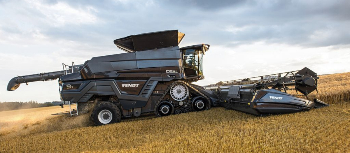 Field Leader Explores Ag Equipment Innovations Fendt IDEAL Combine