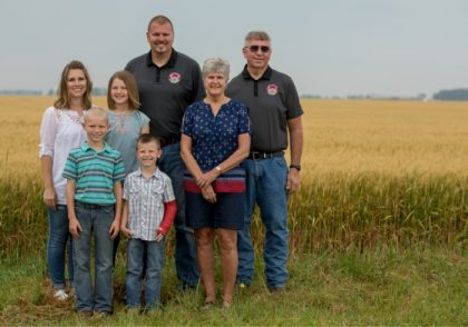 Duane and Anthony Stateler on their Ohio farm with their family.