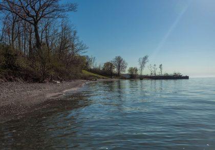 Lake Erie shoreline in Ohio.